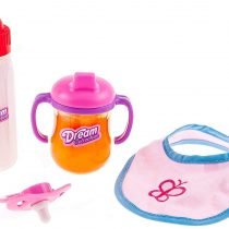 4 in 1 Doll feeding time. Magic juice & milk Bib & pacifier