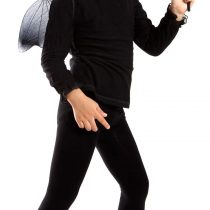 3 Piece Set with bat wings, a mask and the rod. Bat Costume for Halloween unit size from 92 to 146, EL01