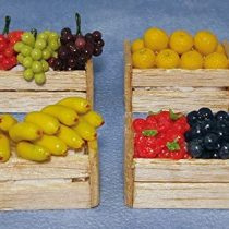 12th Scale Dolls House Fruit Crates Pack of 4 also Ideal for Fairies