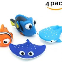 ALLCELE Baby Bath Toys,Finding Dory Nemo Squirt Toys for Baby &Toddler Toys Shower and Swimming 4pcs-Suitable From 1 Year