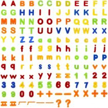 160Pcs Magnetic Letters Alphabet Numbers Learning Toy for Learning, Spelling, Counting, Including 52pcs Upper Case Letters, 52pcs Lower Case Letters, 40pcs Magnetic Numbers and 16pcs Symbols