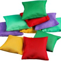 Patelai 10 Pieces Nylon Bean Bags, Bean Bags Carnival Toy for Toss Game, Assorted Colors