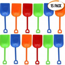 15 Pack Beach Spades, Sand & Beach Toys 9″ – Perfect Summer Fun for Kids Toddlers, Park Garden Beach Sand Pit Sandcastle.