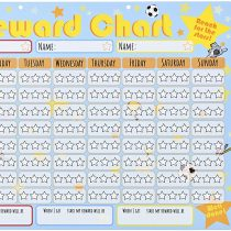 Amonev Reward Chart Star Chart is a dry erase chart that rewards up to 3 children, Our 30 x 40cm Chore Chart comes with 4 dry erase pens and a hanging loop