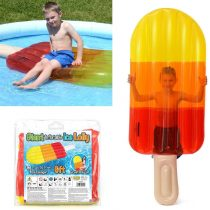 6ft Giant inflatable Ice Lolly Pool Lounger Float Raft Air Bed Novelty Holiday Poolside PVC Water Toy – Lilo for Swimming Pools – Colour Transparent YELLOW ORANGE RED