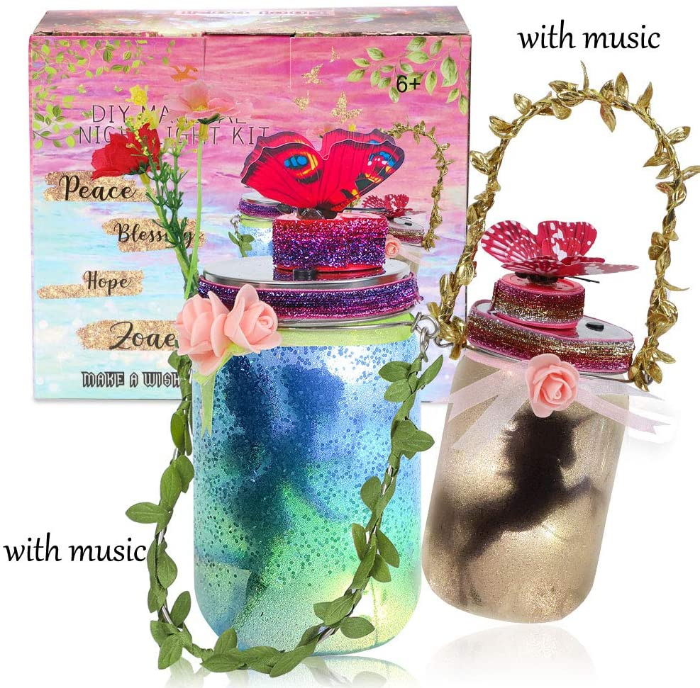 2 Music DIY Fairy And Unicorn Jar Lantern Kit For Kids