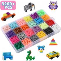 Bdwing Water Fuse Beads Fun Magic Beads for Kids Water Beads for Children Non Toxic 3200 beads 24 colors