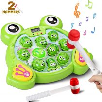 Byserten Interactive Whack A Frog Game Kids, Educational Toys for Kids 2-6 Year Old with Musical Light Childrens Game age 3 4 5 Boys Girls Toddler Gifts Include 2 Hammer