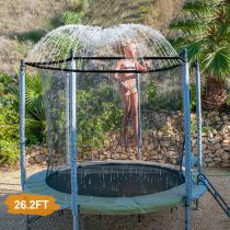INMUA Trampoline Sprinkler, Outdoor Trampoline Water Park Sprinkler for Kids, Summer Water Fun Sprayer for Boys Girls(8M/26.2FT)