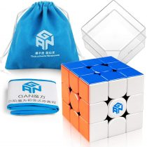 Coogam GAN 356 M Speed Cube 3×3 Stickerless Gans 356M Magnetic Puzzle Cube Gan356 M 3x3x3 without GES (Light Weighted Edition)