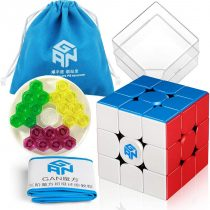 Coogam GAN 356 M Speed Cube 3×3 Stickerless Gans 356M Magnetic Puzzle Cube Gan356 M 3x3x3 with GES (Standard Edition)
