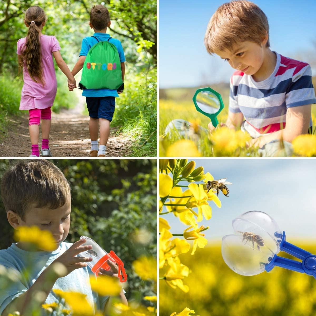 UTTORA Outdoor Explorer Kit Gifts Toys,Kids Binoculars Set ...