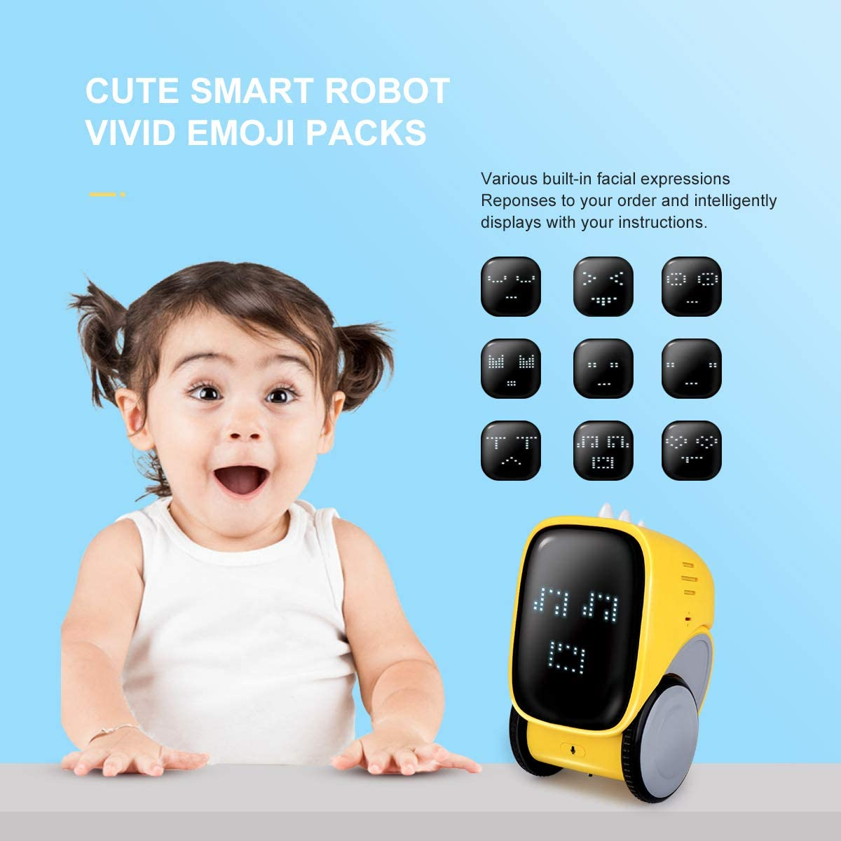 Pickwoo Smart Robot Toy for Kids, Intelligent STEM ...