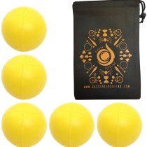 5 x Pro 115g Cascade Classic Juggling Balls – Thud Juggling Balls & Bag – Set of 5 Juggling Balls (Yellow)
