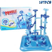 EPCHOO Marble Runs, 107 Pcs Aqua Maze Twist The Water Marble Run Maze Race Track Game Set, STEM Educational Learning Toy Construction Building Blocks for Kids 3 4 5 6 7+Years Old Boys and Girls
