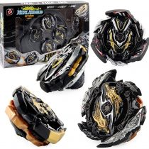 3T6B Bey Battling Tops Burst Turbo Arena Set, New Generation of Spinning Tops Gyroscope Lasting Rotation Combined with Stadium for Children Gift (Black)