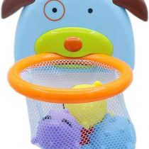 Amasawa Bath Toys,Basketball Stand Baby Water Toys with Suction Cup,Fun Bath Basketball Hoop for Kids Toddler with 4 Fish,Bathtub Shooting Game for Little Boys Girls
