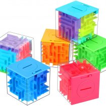 6 Pieces Money Maze Puzzle Box, A Fun Unique Way to Boys, Girls, Adults and People You Love, Fun Brain Teasers Game, Great for Valentine's Day or Christmas, 6 Colors