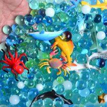 AINOLWAY Sea Animal Figures Animal 24 Realistic Deep Sea Animal Figures Educational Toys & Ocean Color Crystal Beads