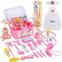 31PCS Pretend Doctor Kit Medical Toys Nurse Playset with Coat and Cap Role Play Costumes for Kids Children Carry Case (31 Pcs Doctor Kit)