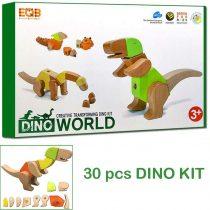 33 Piece Wooden Block Set – Handmade Dinosaur Puzzle Toy Intelligence Building Block Series
