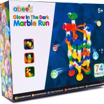 abeec Glow in the Dark Marble Race Game – 74 pcs