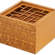 Bits and Pieces – The King's Fortune Brainteaser Puzzle Box – Wooden Secret Compartment Brain Game for Adults