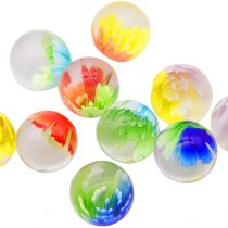 ARSUK 10 x Handmade Marbles Art Glass, Flowerish Style Marbles, Five 25mm, Come in a Bag