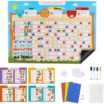 Magicfly Magnetic Reward Board Reward Star Chart Plan Training Responsibility for Children Multiple Toddlers Dry Erase Easel Schedule Wall Sticker Magnets Family Calendar 43 x 30 cm