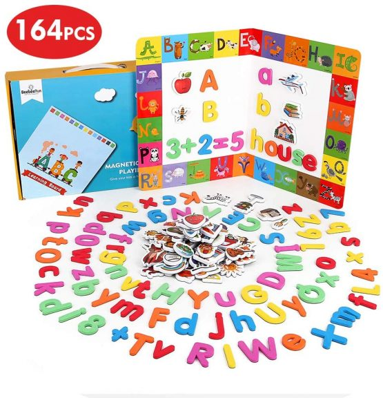 BeebeeRun 164 pcs Magnetic Letters and Numbers for ...