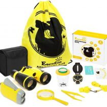 EocuSun Outdoor Exploration Kit – Educational Toys for 3-12 Years Old Boys Girls – Kids Adventure Explorer Set – Binoculars, Flashlight, Compass, Magnifying Glass, Best Gifts for Birthday, Camping