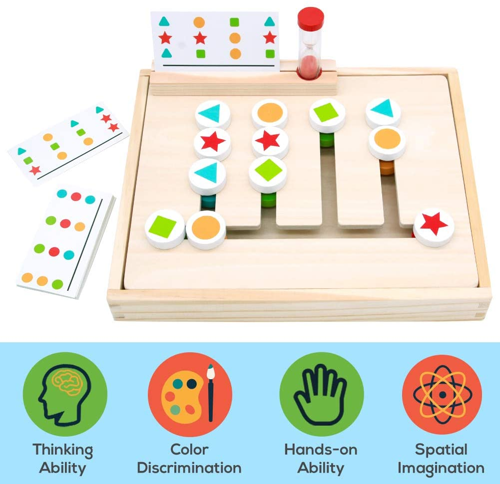 Wooden Toys Colour Shape Sorting Game Puzzle Educational ...