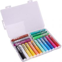 18 Colors Oil Pastels For Kids Soft Pastels Set Assorted Crayons Painting Sticks Chalk Washable Rotating Paint Sticks Water Soluble Pastel For Drawing Painting Sketching Graffiti Portrait Coloring