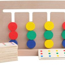 4 Colors Game Wooden Toy Stacker Developmental Sorting Boys Girls Counting Pieces Game Sorting Brain Teaser Educational Puzzle for Children over 6 years old
