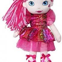 AB Gee Saskia Rainbow Hair Rag Doll 14in