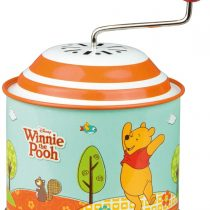 Bolz 52767 Disney Winnie The Pooh Party Music Approx. 10.5 x 7.5 cm, tin Melody The Spring, Metal Box, Rotating Horn for Children Aged 18 Months and Over, Organ, Colourful