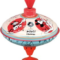Bolz 52362 Disney Mouse Humming Spinning Top 16 cm Sheet Metal Spinning Top with Mickey Mouse Motifs Spinning Top with Base Toy Spinning Top for Children from 18 m + Colourful