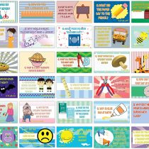 Back to School Lunchbox Note Cards – Funny Jokes Flashcards (30 Cards x 4 Set)