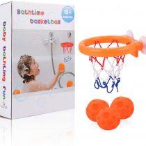 ALLCELE Bath Toy Basketball Hoop & Balls Set for Boys and Girls – Kid & Toddler Bath Toys Gift Set