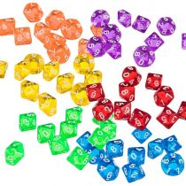 60 Pieces Acrylic Polyhedral Dice 10 Sided Polyhedral Game Dice for RPG Dungeons and Dragons Pathfinder D&D TRPG