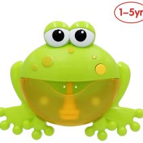 ANIKI TOYS Baby Music Bubble-Blowing Bathing Machine, Infant Bath Toy Automatic Bubble Maker Blower, Kids Happy Tub Time – Froggie