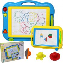 "2 Magna Doodle Boards with Multi-Colors Drawing Screens, 13"" x 17"" Erasable Magnetic Drawing Sketch Board for Toddler Painting, Travel Gaming Pad Toy, Birthday Gift Present, Easter Basket Stuffers"