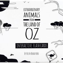 Black and White Baby Flash Cards for Toddlers – Animals from Australia Interactive Learning Children's Books – Toys for baby development – For Newborns, Preschoolers and Toddlers – 12 Flash Card Set