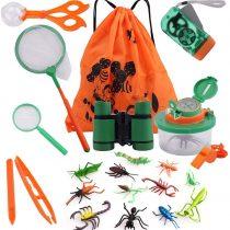 COSORO 18 Pack Kids Outdoor Explorer Kit-Kids Adventure Kit Fun Toys Educational Toys Gift Toys For 3-10 Years Old Boys Girls Birthday Xmas Present,Kids Binoculars Set For Camping Hiking Pretend Play