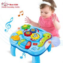 ACTRINIC Musical Learning Table Baby Toys 6 to 12 Months Early Education Music Activity Center is described but on the box it says 18m +