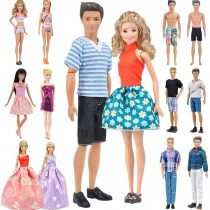 E-TING 12 Item Random Style Dress Swimsuit Shoes for Boy Dolls Girl Dolls(No Doll)