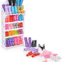 E-TING Doll Shoes Rack Shoes Shelf with 20 Pairs Shoes (1 Shoes Shelf+20 Pairs shoes)(Random style)