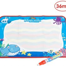 ANIKI TOYS Water Magic Drawing Painting Doodle Mat Aqua Writing Board with one Color-Magic Pen for Kids Girls Boys Toddlers(Large,Ocean)