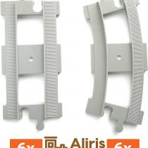 6 Curved Tracks – 6 Straight Tracks – Light Grey – Accessories Compatible with Leading Brand Train Building Bricks