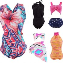 E-TING 5 Sets Handmade Swimwear Beach Bikini Bathing Swimsuits Outfits fit for girl Dolls Gift (Swim Style C)(doll not included)